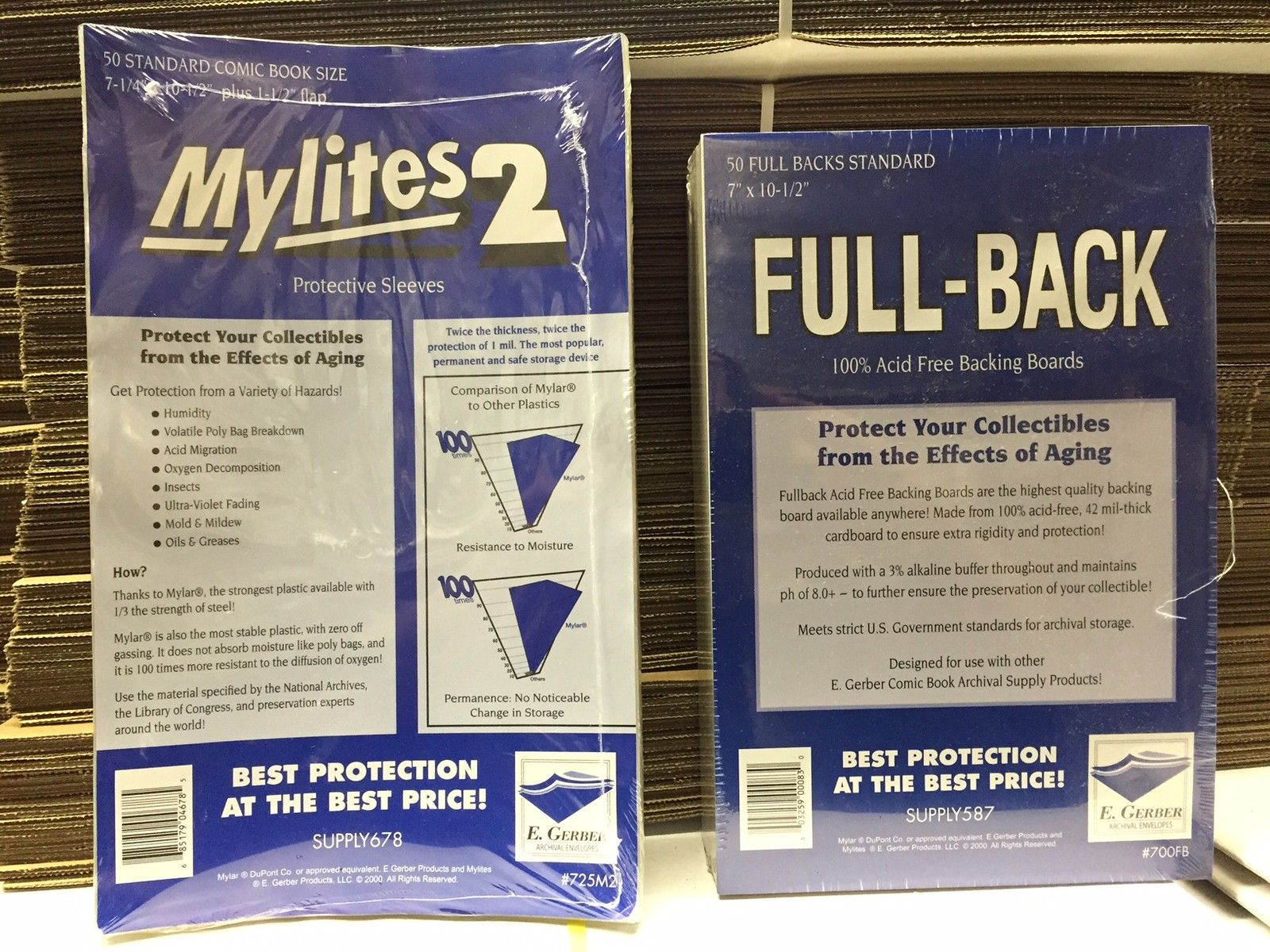 GERBER MYLITES 2 STANDARD E 100 BRONZE 2-Mil Mylar Comic Bags